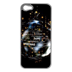Christmas Star Ball Apple Iphone 5 Case (silver)