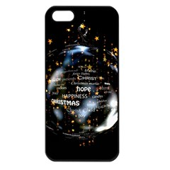 Christmas Star Ball Apple Iphone 5 Seamless Case (black)