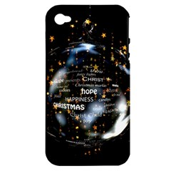 Christmas Star Ball Apple Iphone 4/4s Hardshell Case (pc+silicone)