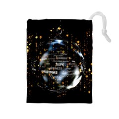 Christmas Star Ball Drawstring Pouches (large)