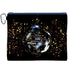 Christmas Star Ball Canvas Cosmetic Bag (xxxl)