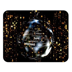 Christmas Star Ball Double Sided Flano Blanket (large)