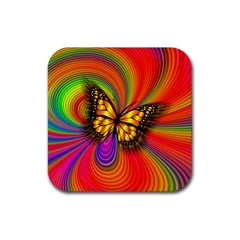 Arrangement Butterfly Aesthetics Rubber Square Coaster (4 Pack)