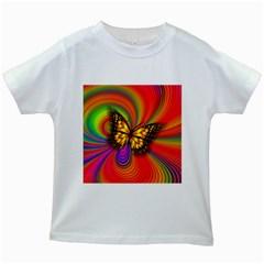 Arrangement Butterfly Aesthetics Kids White T Shirts
