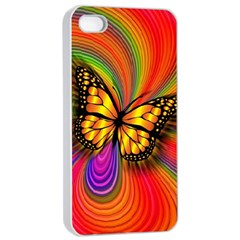 Arrangement Butterfly Aesthetics Apple Iphone 4/4s Seamless Case (white)