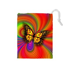 Arrangement Butterfly Aesthetics Drawstring Pouches (medium)