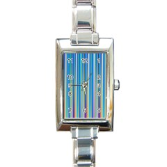 Colorful Color Arrangement Rectangle Italian Charm Watch