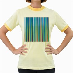 Colorful Color Arrangement Women s Fitted Ringer T Shirts