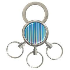 Colorful Color Arrangement 3 Ring Key Chains