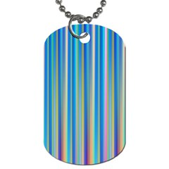 Colorful Color Arrangement Dog Tag (two Sides)