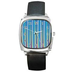 Colorful Color Arrangement Square Metal Watch