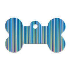 Colorful Color Arrangement Dog Tag Bone (one Side)
