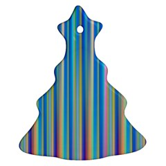 Colorful Color Arrangement Christmas Tree Ornament (two Sides)