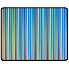 Colorful Color Arrangement Double Sided Fleece Blanket (medium)