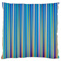 Colorful Color Arrangement Large Flano Cushion Case (two Sides)