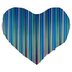 Colorful Color Arrangement Large 19  Premium Flano Heart Shape Cushions