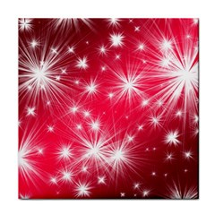 Christmas Star Advent Background Tile Coasters