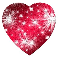Christmas Star Advent Background Jigsaw Puzzle (heart)