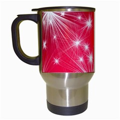 Christmas Star Advent Background Travel Mugs (white)