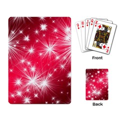 Christmas Star Advent Background Playing Card