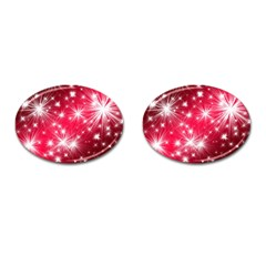 Christmas Star Advent Background Cufflinks (oval)