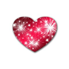 Christmas Star Advent Background Heart Coaster (4 Pack)