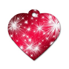 Christmas Star Advent Background Dog Tag Heart (one Side)