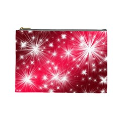 Christmas Star Advent Background Cosmetic Bag (large)
