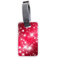 Christmas Star Advent Background Luggage Tags (two Sides)