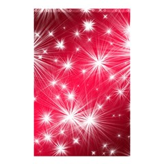 Christmas Star Advent Background Shower Curtain 48  X 72  (small)