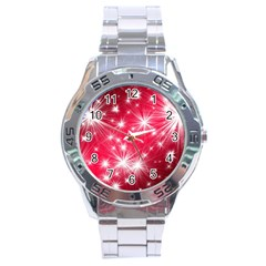 Christmas Star Advent Background Stainless Steel Analogue Watch