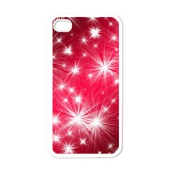 Christmas Star Advent Background Apple Iphone 4 Case (white)