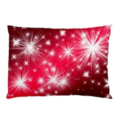 Christmas Star Advent Background Pillow Case (two Sides)
