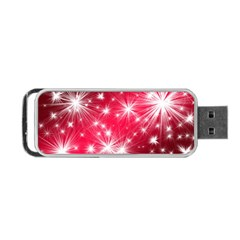Christmas Star Advent Background Portable Usb Flash (one Side)