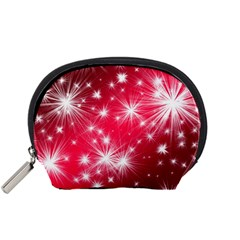 Christmas Star Advent Background Accessory Pouches (small)