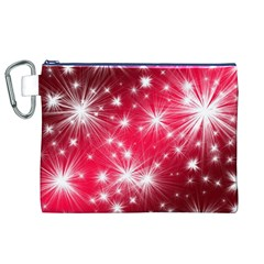 Christmas Star Advent Background Canvas Cosmetic Bag (xl)