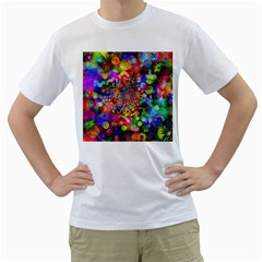 Background Color Pattern Structure Men s T Shirt (white) (two Sided)