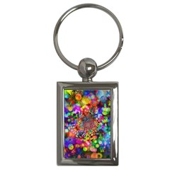 Background Color Pattern Structure Key Chains (rectangle)