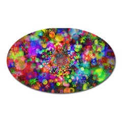 Background Color Pattern Structure Oval Magnet