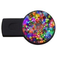Background Color Pattern Structure Usb Flash Drive Round (2 Gb)