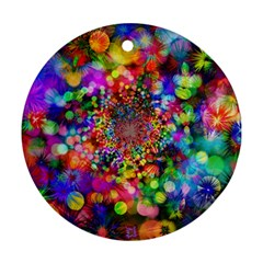 Background Color Pattern Structure Round Ornament (two Sides)