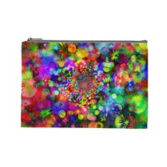 Background Color Pattern Structure Cosmetic Bag (large)