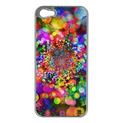 Background Color Pattern Structure Apple Iphone 5 Case (silver)