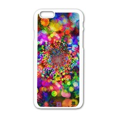 Background Color Pattern Structure Apple Iphone 6/6s White Enamel Case
