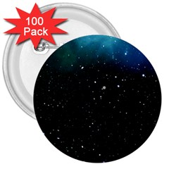 Galaxy Space Universe Astronautics 3  Buttons (100 Pack)