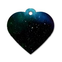 Galaxy Space Universe Astronautics Dog Tag Heart (two Sides)