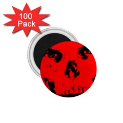 Halloween Face Horror Body Bone 1 75  Magnets (100 Pack)