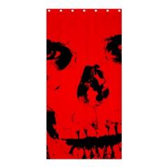Halloween Face Horror Body Bone Shower Curtain 36  X 72  (stall)