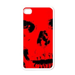 Halloween Face Horror Body Bone Apple Iphone 4 Case (white)
