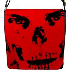 Halloween Face Horror Body Bone Flap Messenger Bag (s)